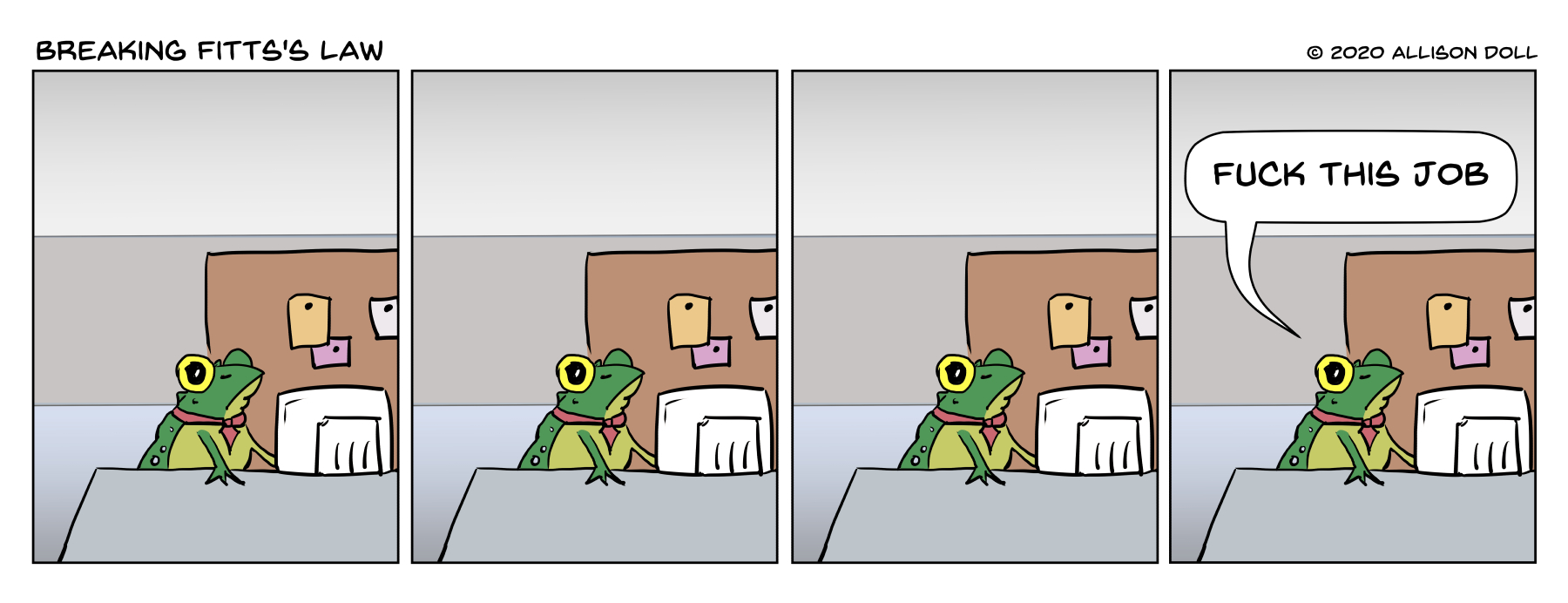 Frog Hates Job – Guest Comic by Allison Doll